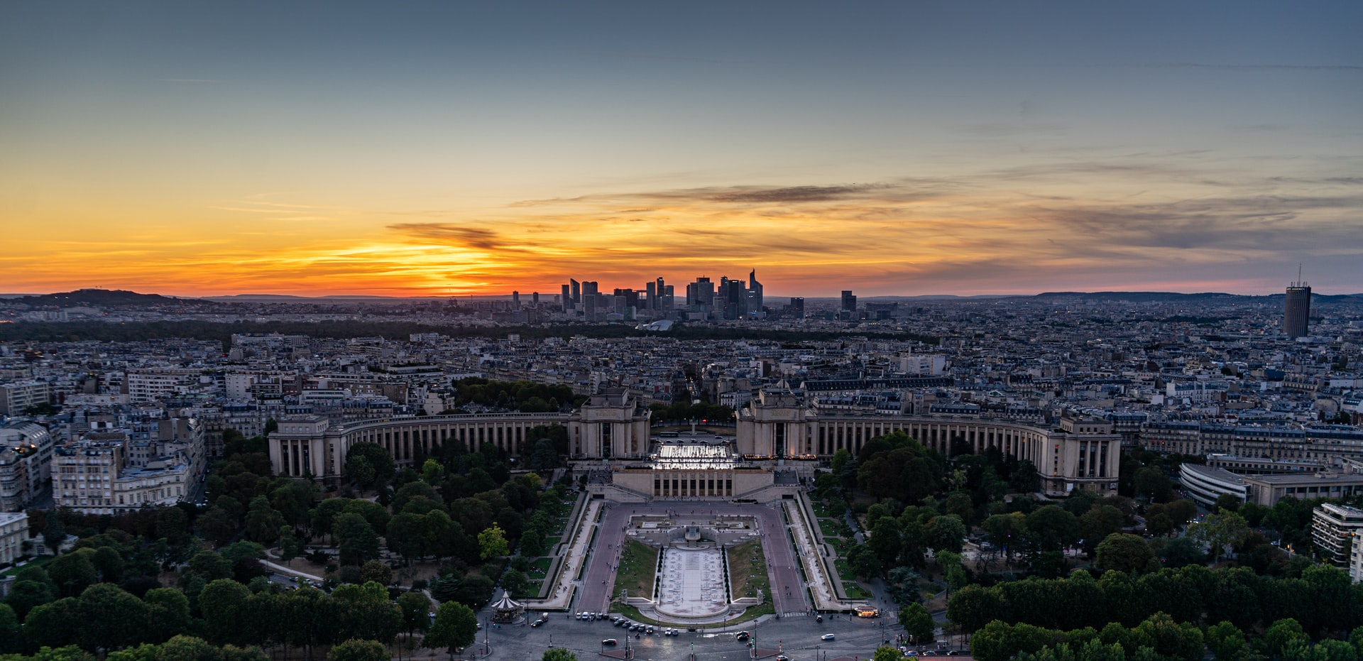 Sunset from the top of the Eiffel Tower