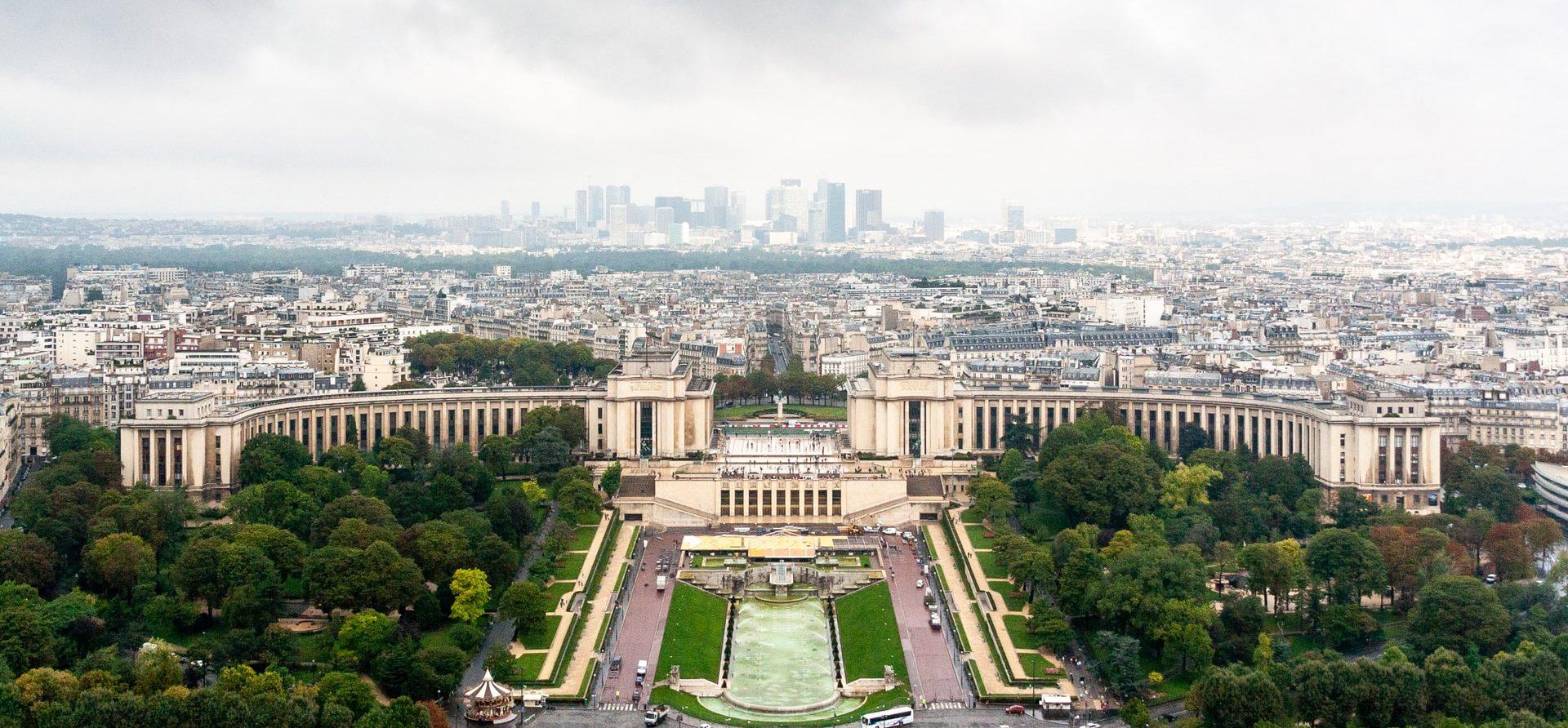 Trocadero facing the Eiffel Tower