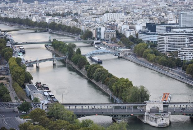 View of the Seine as seen from the Eiffel Tower