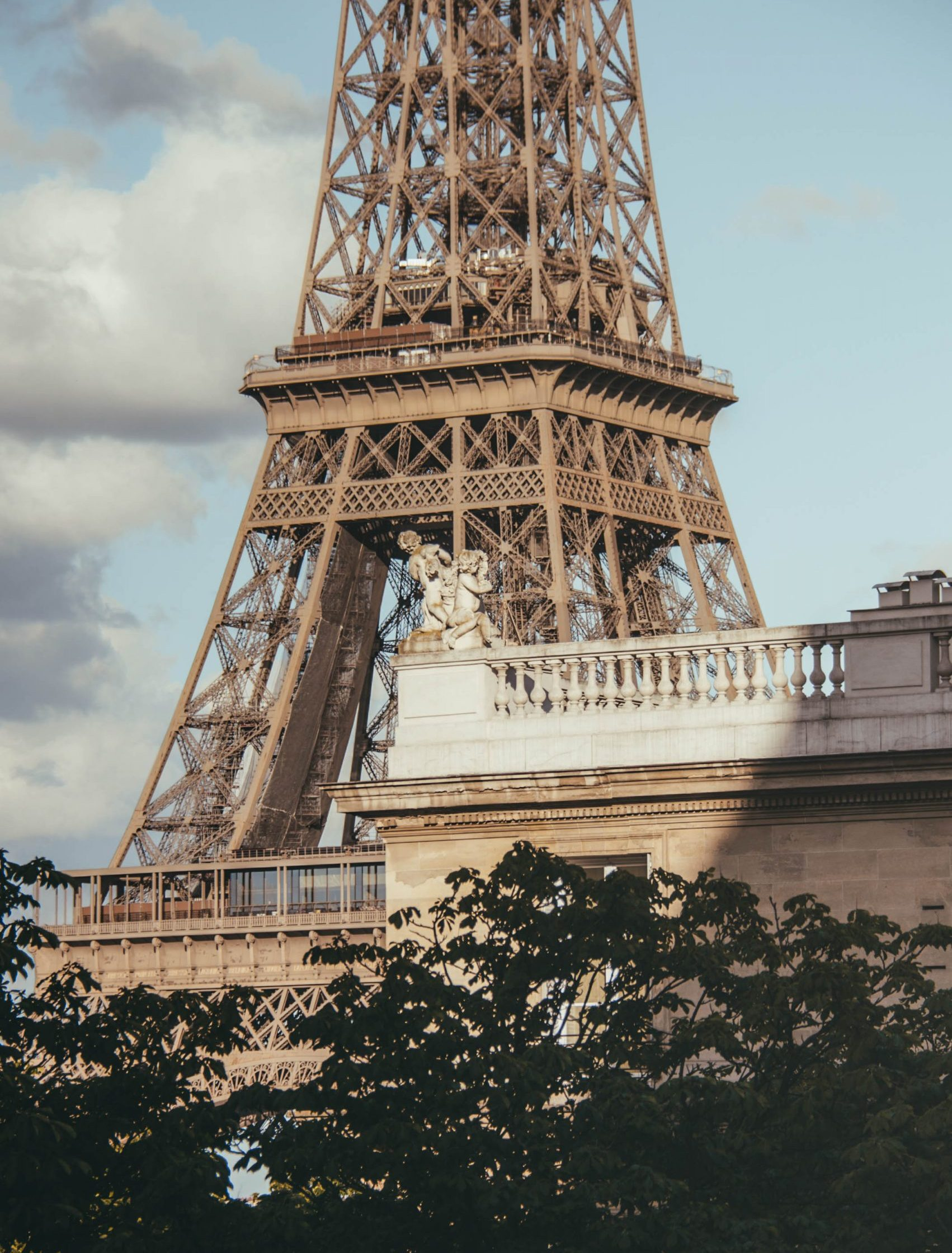 One of the best views of the Eiffel Tower from Avenue de Camoensin Paris