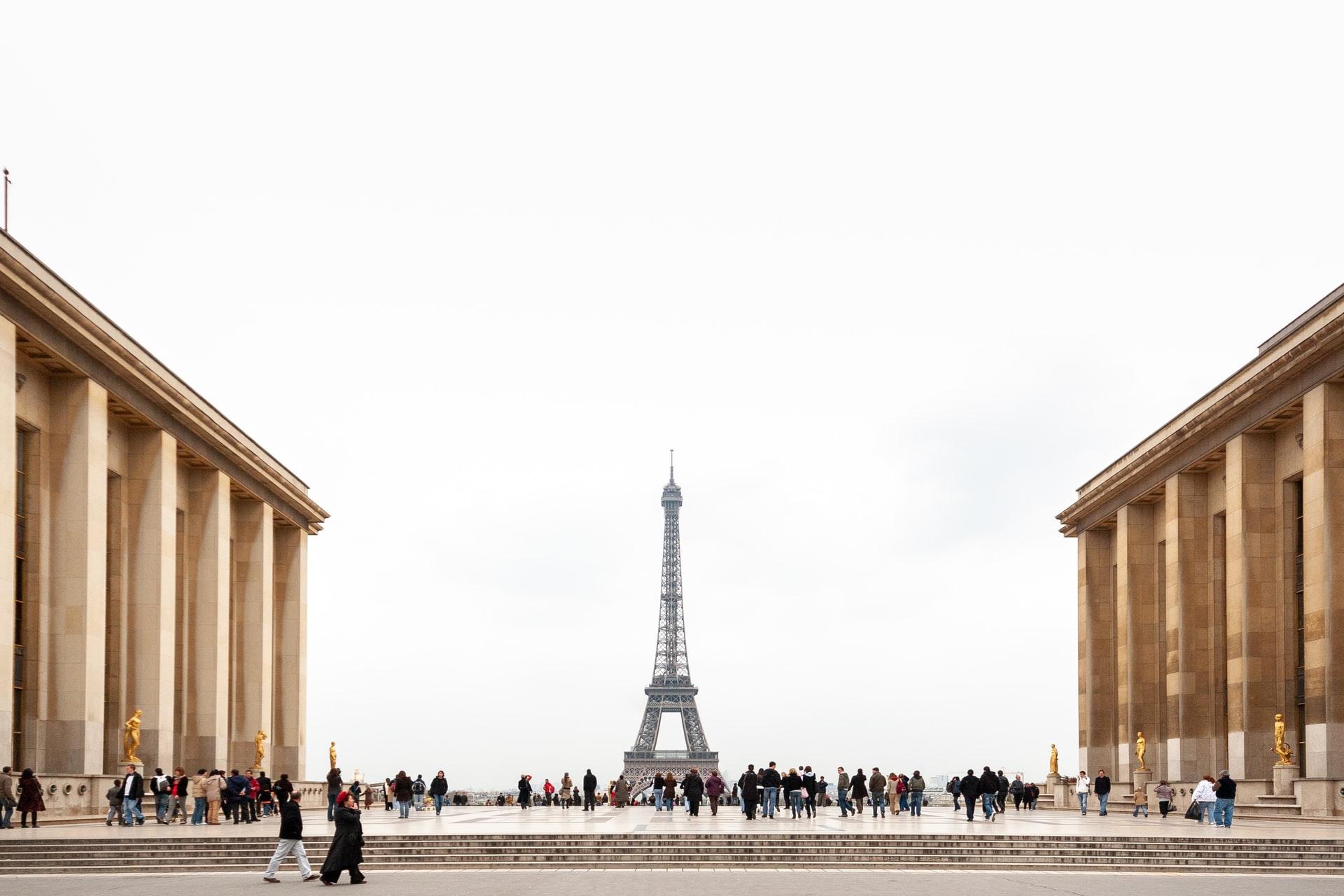 Eiffel Tower romantic viewpoint
