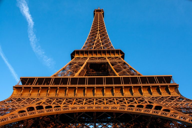 Eiffel Tower viewed from below